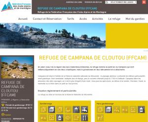 Site web du refuge Campana de Cloutou