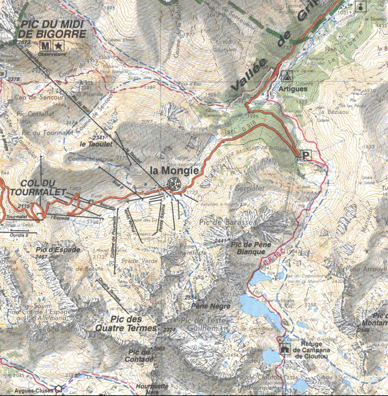 Carte d'accès au refuge de Campana