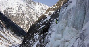 Sortie cascade de glace avec l'école d'aventure du Club Alpin de Bagnères de Bigorre