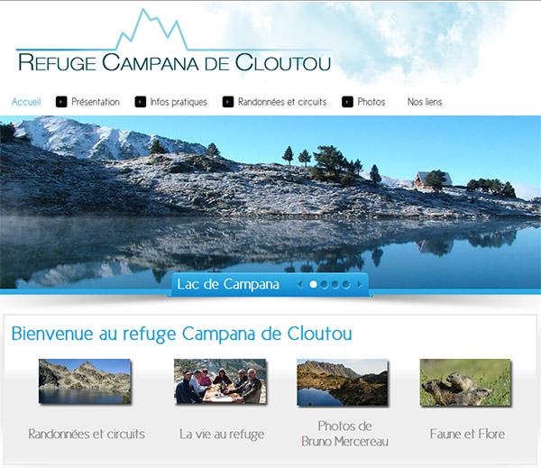 Ilustration du site web du refuge de Campana