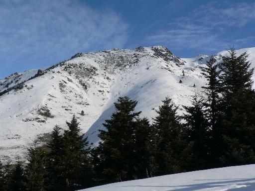 Ski sommet de Pouyaue